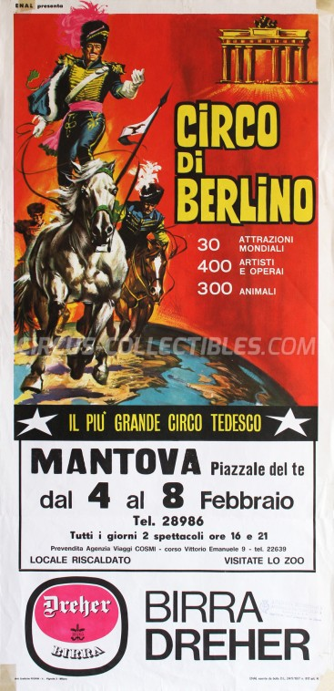 Circo di Berlino Circus Poster - Italy, 1967