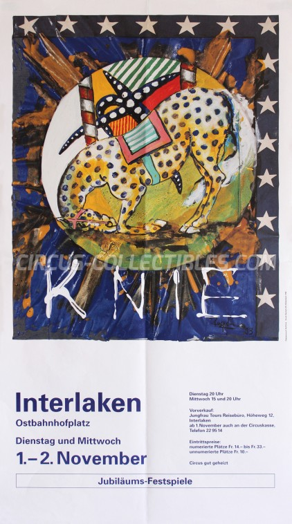 Knie Circus Poster - Switzerland, 1994