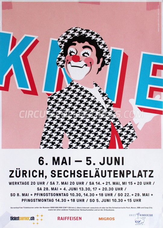 Knie Circus Poster - Switzerland, 2016