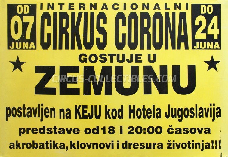 Corona Circus Poster - Serbia, 2012