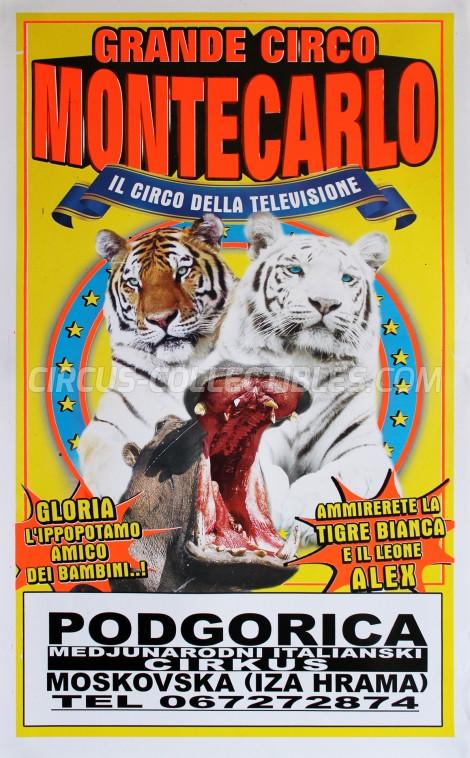 Circo di Montecarlo Circus Poster - Italy, 2016
