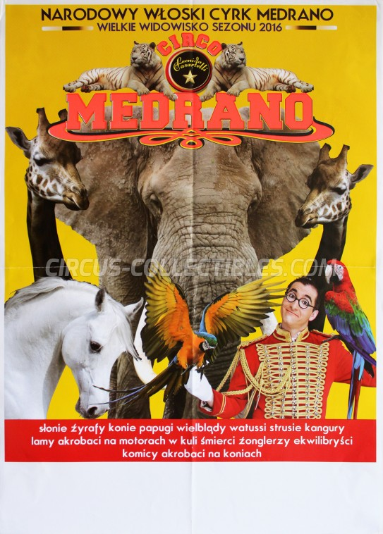 Medrano (Casartelli) Circus Poster - Italy, 2016