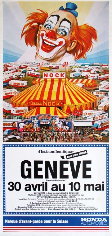 Nock Circus Poster - Switzerland, 1981