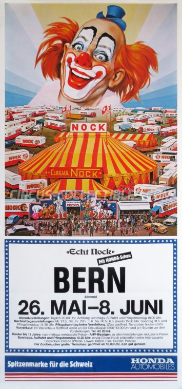 Nock Circus Poster - Switzerland, 1981