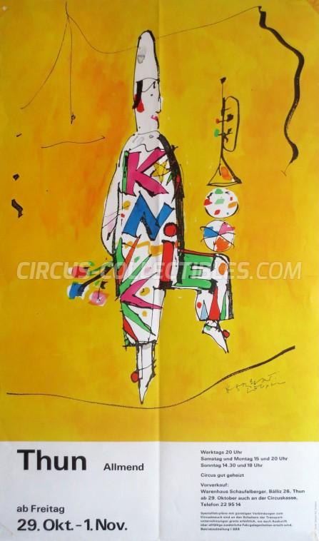 Knie Circus Poster - Switzerland, 1982