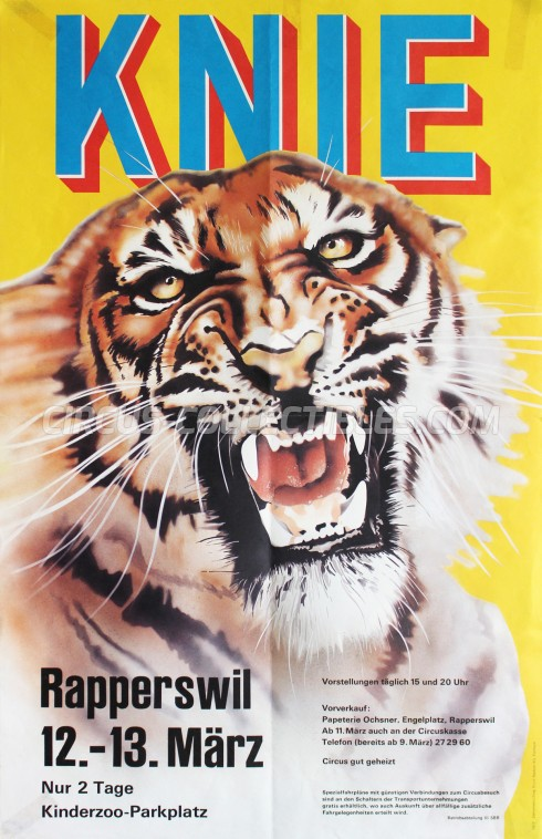 Knie Circus Poster - Switzerland, 1977