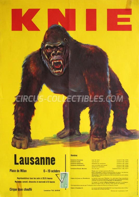 Knie Circus Poster - Switzerland, 1961