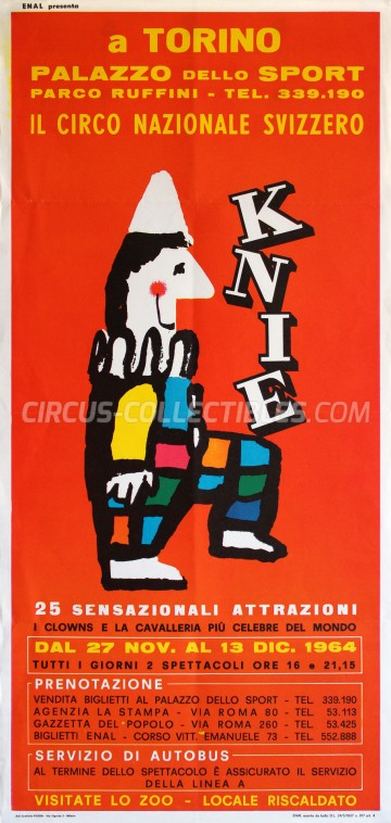 Knie Circus Poster - Switzerland, 1964