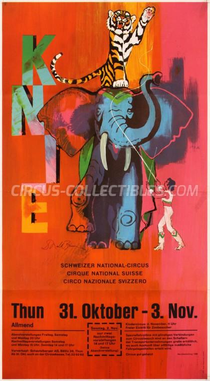 Knie Circus Poster - Switzerland, 1975