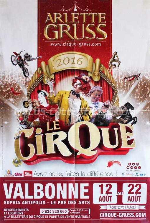 Arlette Gruss Circus Poster - France, 2016
