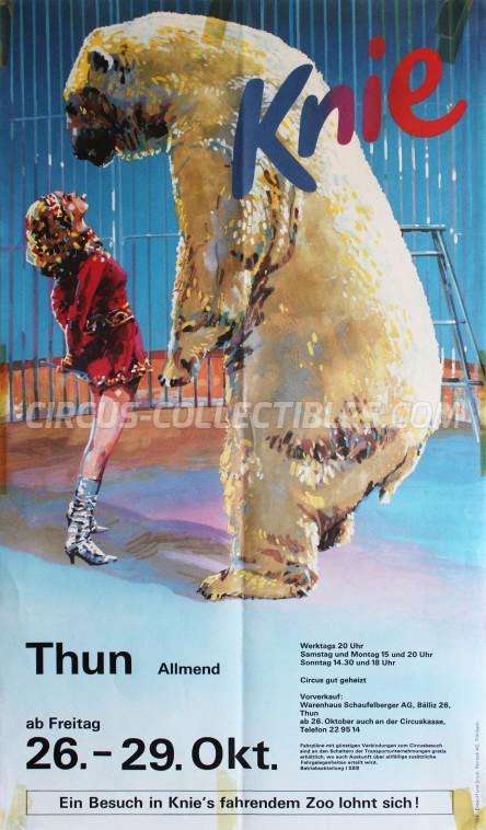 Knie Circus Poster - Switzerland, 1984