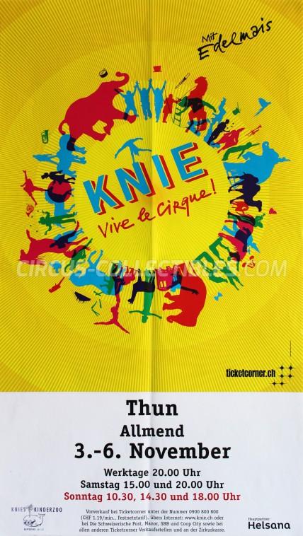 Knie Circus Poster - Switzerland, 2011