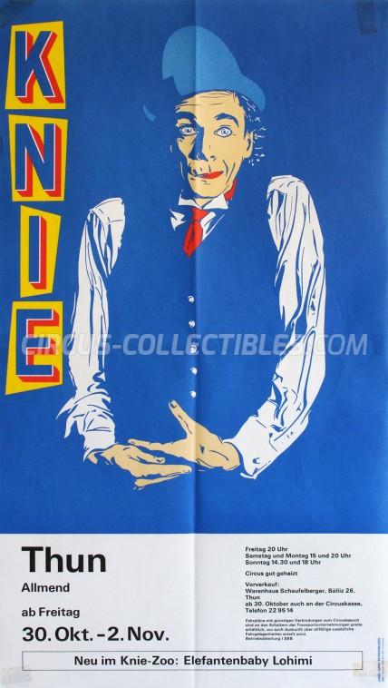 Knie Circus Poster - Switzerland, 1987
