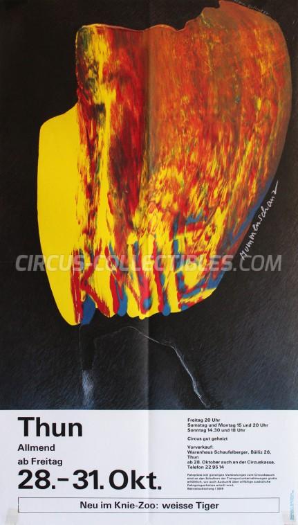 Knie Circus Poster - Switzerland, 1988