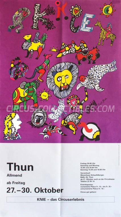 Knie Circus Poster - Switzerland, 1995