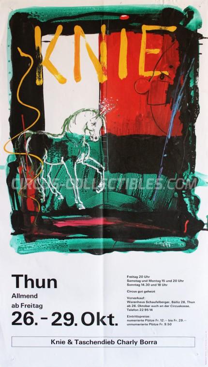 Knie Circus Poster - Switzerland, 1990