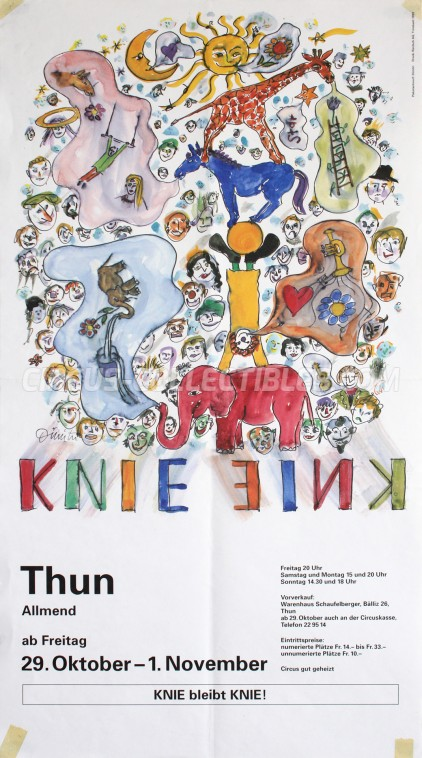 Knie Circus Poster - Switzerland, 1993