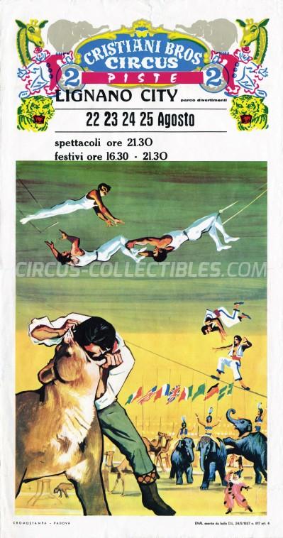 Cristiani Bros Circus (IT) Circus Poster - Italy, 0