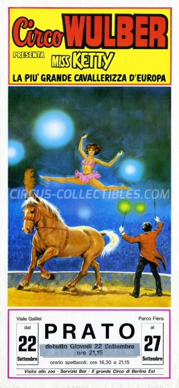 Wulber Circus Poster - Italy, 1983