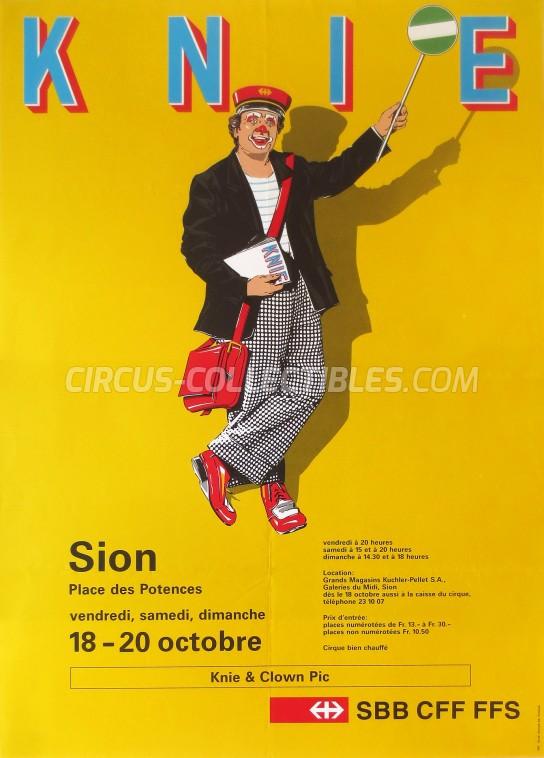 Knie Circus Poster - Switzerland, 1991