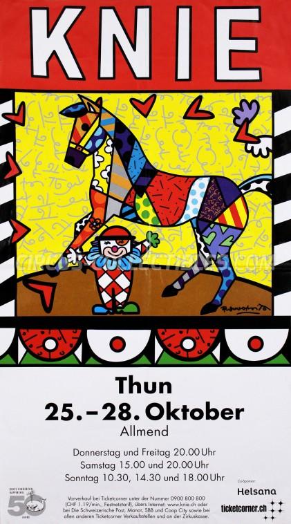 Knie Circus Poster - Switzerland, 2012