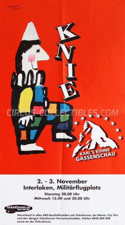 Knie Circus Poster - Switzerland, 1999