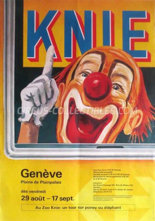 Knie Circus Poster - Switzerland, 1986