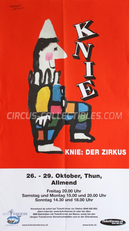 Knie Circus Poster - Switzerland, 2001