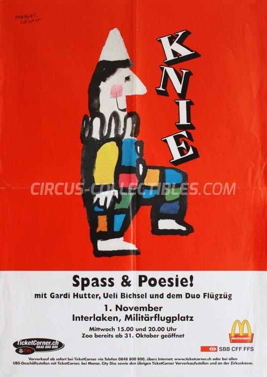 Knie Circus Poster - Switzerland, 2000