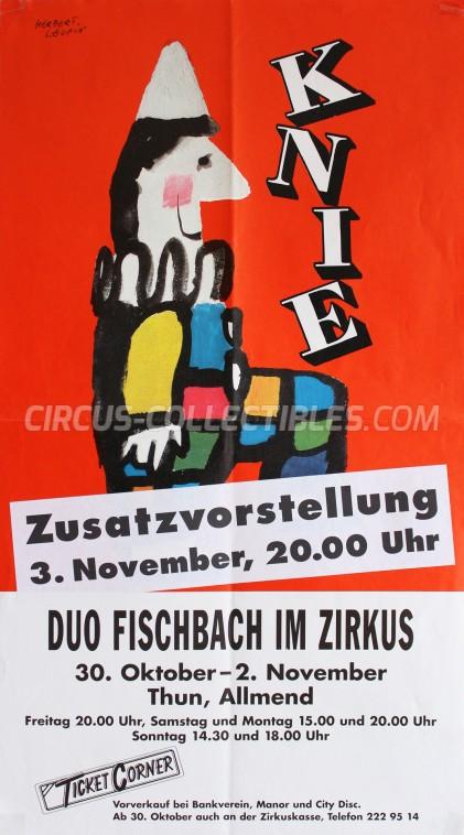 Knie Circus Poster - Switzerland, 1998