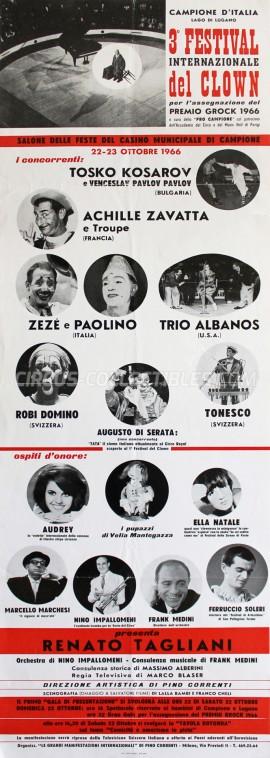 Festival Internazionale del Clown Circus Poster - Italy, 1966