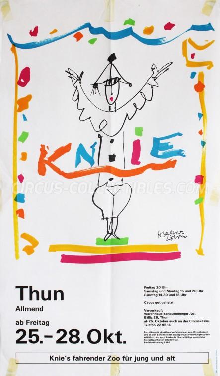 Knie Circus Poster - Switzerland, 1985