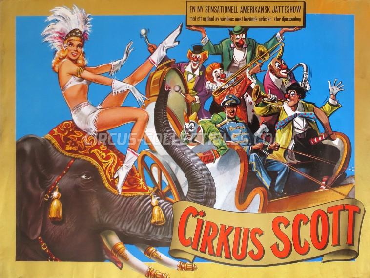 Scott Circus Poster - Sweden, 1980