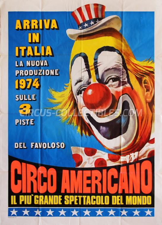 American Circus Circus Poster - Italy, 1974