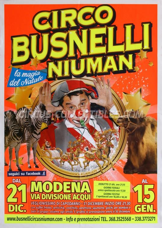 Niuman Circus Poster - Italy, 2016