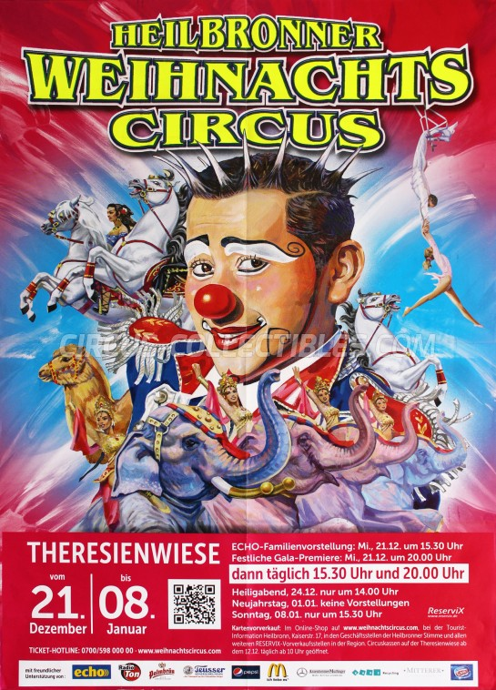 Heilbronner Weihnachts Circus Circus Poster - Germany, 2016