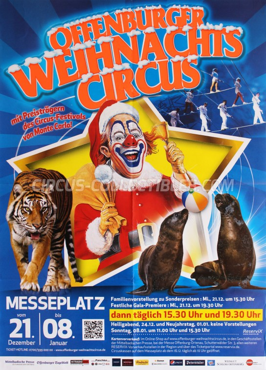 Offenburger Weihnachts Circus Circus Poster - Germany, 2016