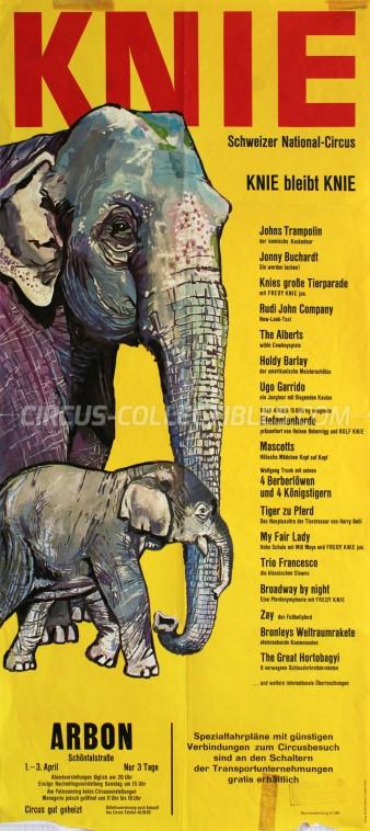Knie Circus Poster - Switzerland, 1966