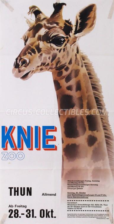 Knie Circus Poster - Switzerland, 1977