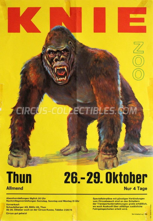 Knie Circus Poster - Switzerland, 1973