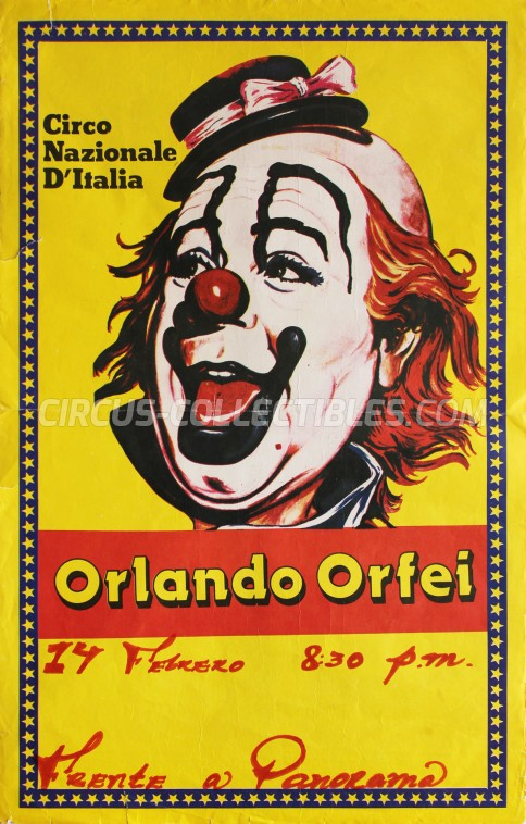 Orlando Orfei Circus Poster - Italy, 1985