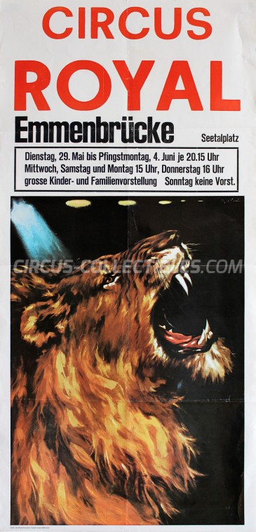 Royal (CH) Circus Poster - Switzerland, 1979