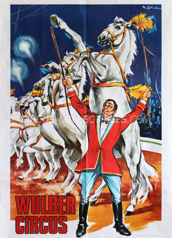Wulber Circus Poster - Italy, 1973