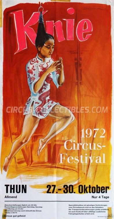 Knie Circus Poster - Switzerland, 1972