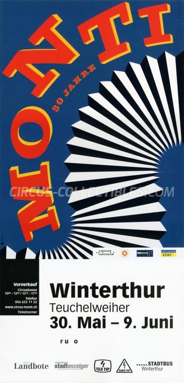 Monti Circus Poster - Switzerland, 2014