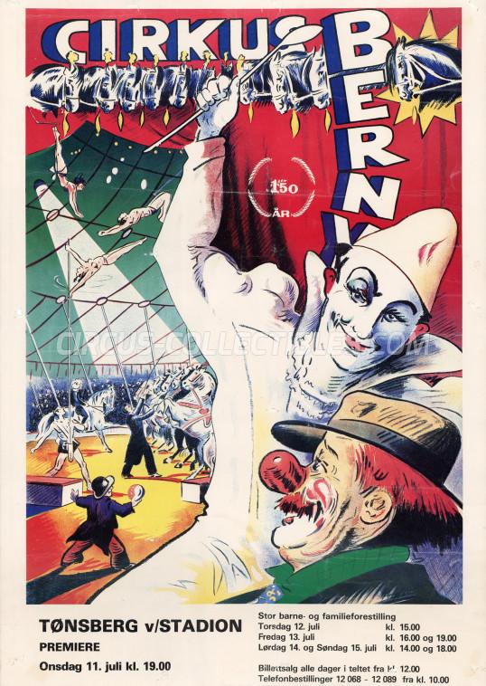 Berny Circus Poster - Norway, 1984