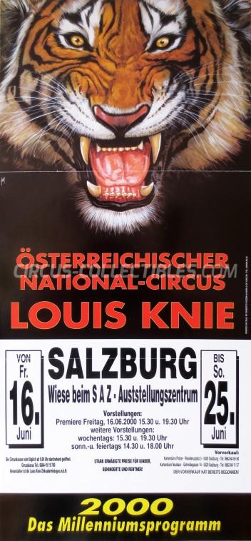 Louis Knie Circus Poster - Austria, 2000