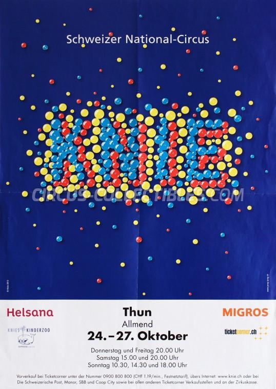 Knie Circus Poster - Switzerland, 2013