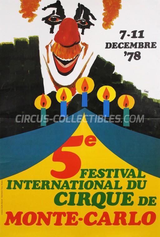Festival International du Cirque de Monte-Carlo Circus Poster - Monaco, 1978