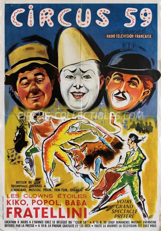 Circus 59 Circus Poster - France, 1959